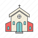 building, christian, christian building, church icon