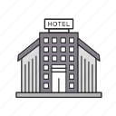 apartment, building, hotel, hotel building icon