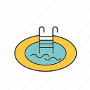 enjoy, pool, swimming, swimming pool icon