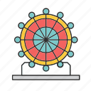 circus, entertainment, fair, tent icon