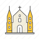 building, cathedral, church icon
