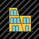architecture, building, colosseum, landmark icon