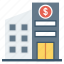 bank, building, finance, financial icon
