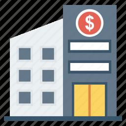 bank, building, finance, financial icon icon