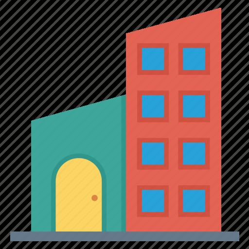 building, hotel, hotel building, real icon icon