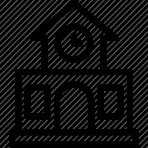 building, college, institute, real estate, school building icon icon