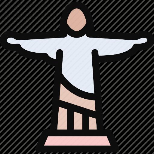 brazil, christ, jesus christ, redeemer, statue icon