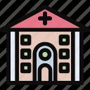 clinic, hospital, medical, medical center, polyclinic icon
