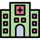 clinic, hospital, medical, medical center polyclinic icon