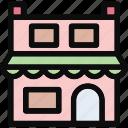 market, market stand, shop, store, superstore icon