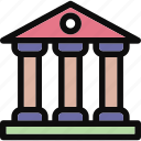 bank, building, court, courthouse, museum icon