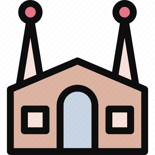 building, dwelling, historic building, lodging, monuments icon