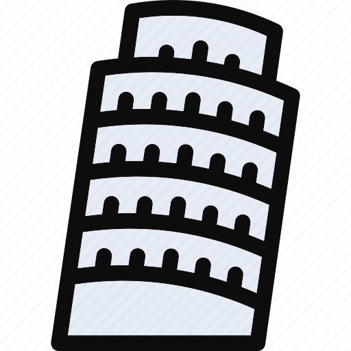 apartments, building, flats, pisa tower, pisa tower icon, real estate, skyscraper icon
