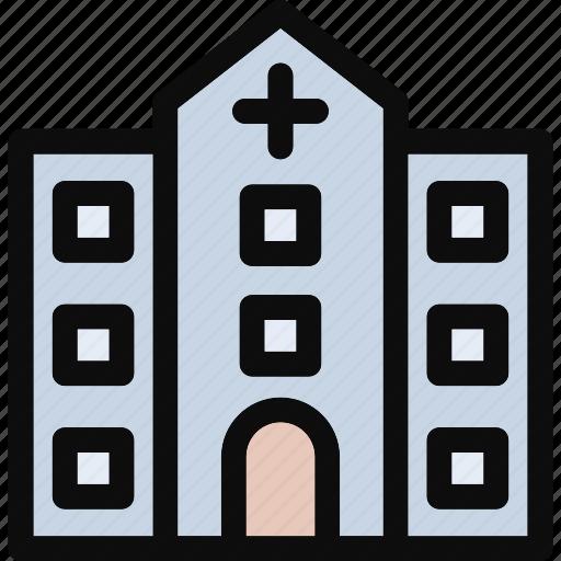 clinic, hospital, medical, medical center icon