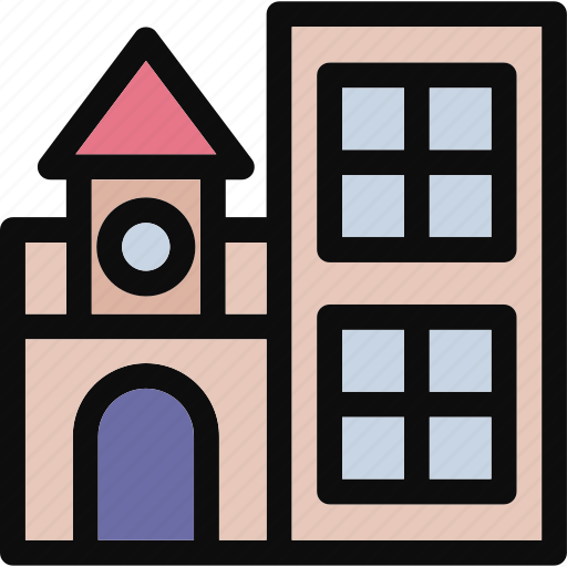 building, gallery, library, museum, real estate icon