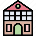 building, college, institute, real estate, school icon
