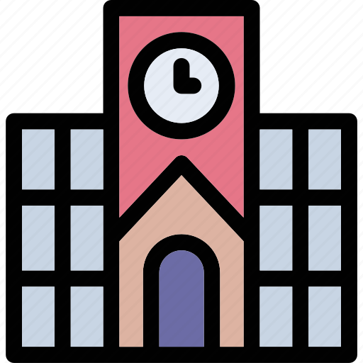 building, college, institute, real estate, school building icon icon