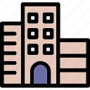 apartments, building, flats, office, trade center icon