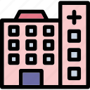 clinic, hospital, medical, medical center, polyclinic icon