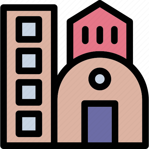 apartment, building, commercial, flats, gallery, institute, real estate icon