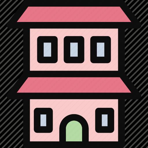 bungalow, cottage, dwelling, house, villa icon