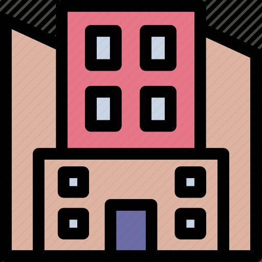 apartments, building, flats, real estate, skyscraper icon