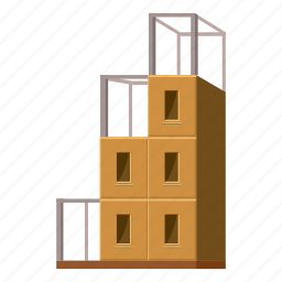 architecture, building, cartoon, construction, glass, office, plan icon