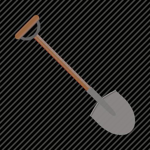 agriculture, building, cartoon, garden, shovel, tool, work icon