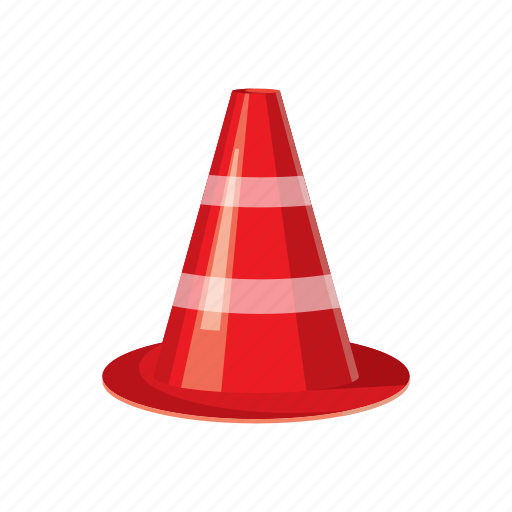 attention, cartoon icon, cone, construction, danger, safety, stop icon