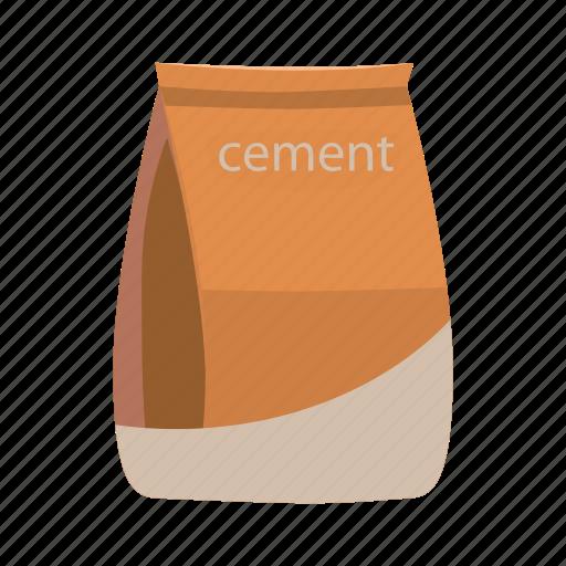 bag, cartoon, cement, concrete, construction, material, sack icon