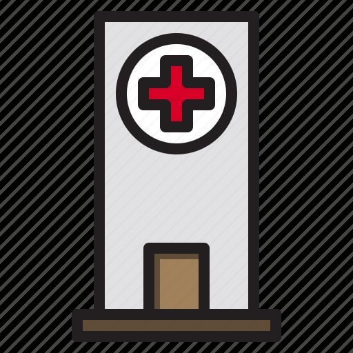 building, city, construction, hospital icon