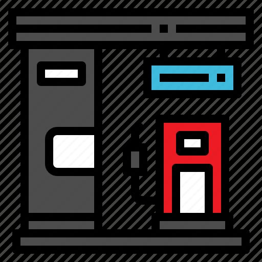 fuel, gas, oil, petroleum, station icon