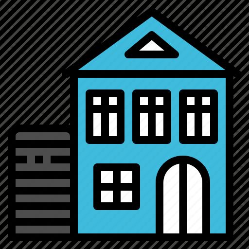 apartment, building, home, house, silo icon