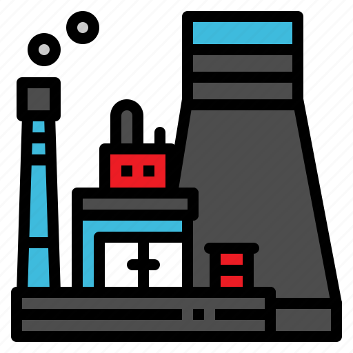 building, industrial, plant, power, station icon