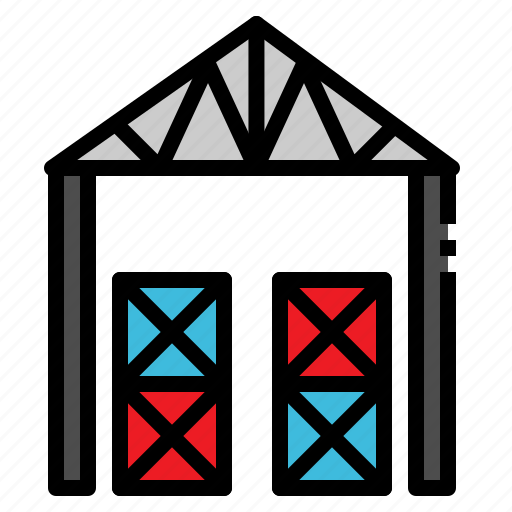 building, logistic, room, storage, warehouse icon