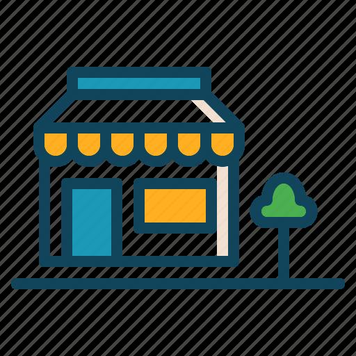 building, chart, shop, store icon icon