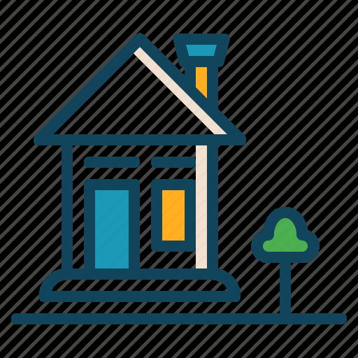 building, home, house, hut icon icon