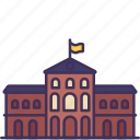 apartment, building, construction, department, institution, museum, university icon