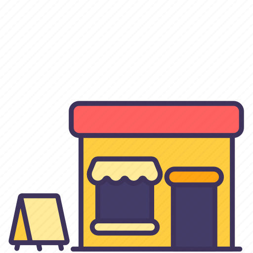 Building, cafe, construction, court, food, loan, restaurant icon - Download on Iconfinder
