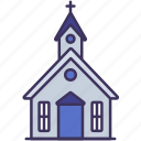 building, christian, church, construction, cross, religion icon