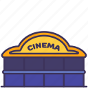 building, cinema, construction, movies, recreation, theatre icon