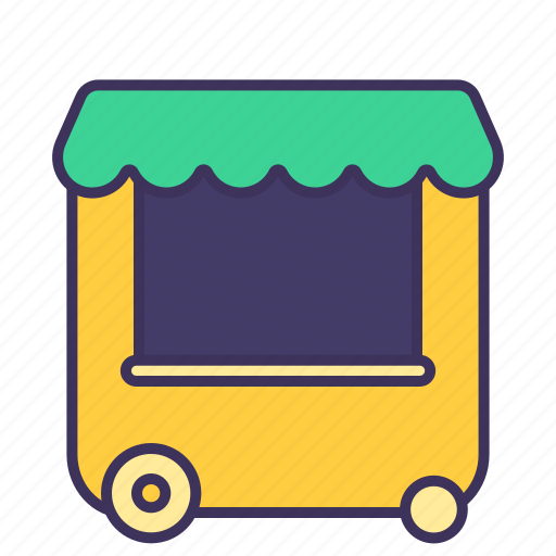cart, eat, fastfood, food, restaurant, shop, urban icon