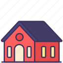 building, city, construction, estate, home, house, loan icon