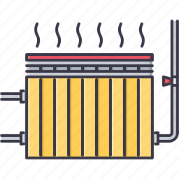 building, heat, heater, heating, interior, repairs icon