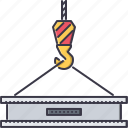 beam, building, crane, hook, interior, repairs icon