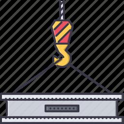 beam, building, crane, hook, interior, repairs icon