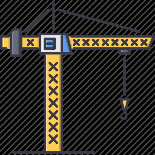building, crane, hook, interior, machine, repairs icon
