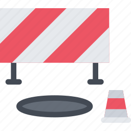 barrier, builder, building, cone, construction, repair icon