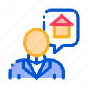 buy, character, dream, house, man, thinking icon