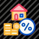 house, mortgage, service, tick icon